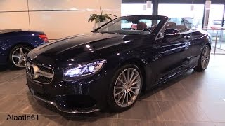 Mercedes-Benz S Class Cabriolet 2017 Exhaust Sound, In Depth Review Interior Exterior