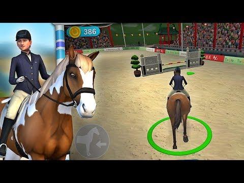 Springreiten 🐎 Pferde Reit-Spiel (Tivola) 🐎  Kinderspiele Stars
