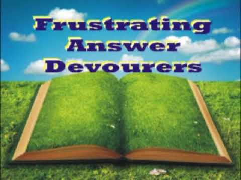 Frustrating answer Devourers by Rev. Sam.Chukwukadibia