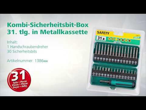 wolfcraft Sicherheits Bit Box 31-teilig (Art.- Nr. 1386000)