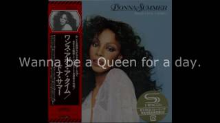 "Donna Summer - Queen for a Day LYRICS - SHM ""Once Upon A Time"" 1977"
