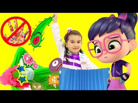 Abby Hatcher, Shimmer and Shine VS Doc McStuffins wash your hands fun stories   The Princess Family