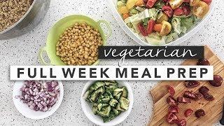 Tasty Vegetarian Weekly Meal Prep   Erin Elizabeth