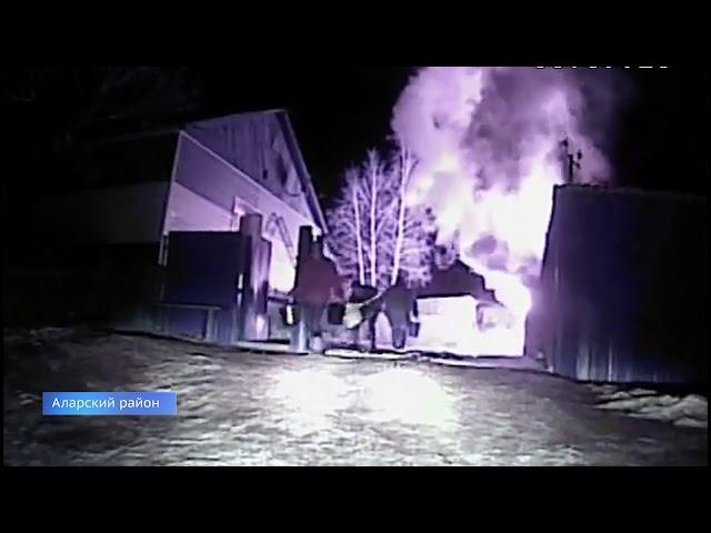 Полицейские спасли людей от гибели