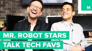 'Mr. Robot' Stars Christian Slater and Rami Malek Are Techies at Heart
