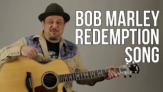 Redemption Song - Acoustic Guitar Lesson - Bob Marley - How to Play on Guitar