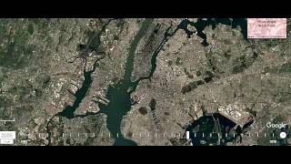Changing New York from 1984 to 2016 in Google Earth/Изменение Нью Йорка  с 1984 до 2016