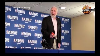 Gregg Popovich upset on the Gatorade bottle & Danny Green's height after Game 1 loss - Video Youtube