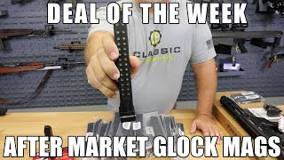 Glock 9mm 33 Rd Capacity Mag. Steel Lined and Reinforced Polymer Body After Market Mag