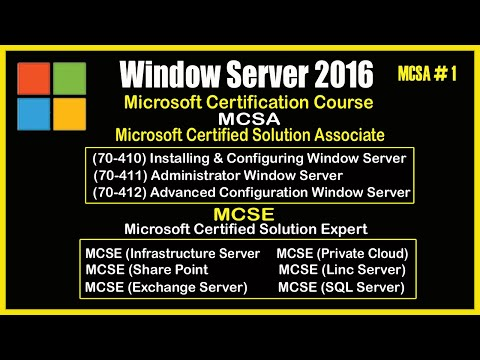Microsoft Certification Course || What is Mcse || Windows Server ...