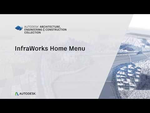 InfraWorks Home Menu
