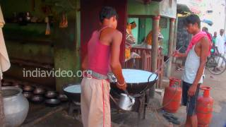 Making milk products in Puri