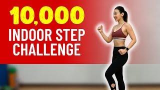 10,000 Indoor STEP🚶♀️Challenge (Burn Calories!)   Joanna Soh