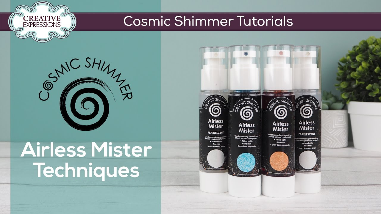 Cosmic Shimmer Pearlescent  Airless Mister -suihke, sävy Pearl Whisper