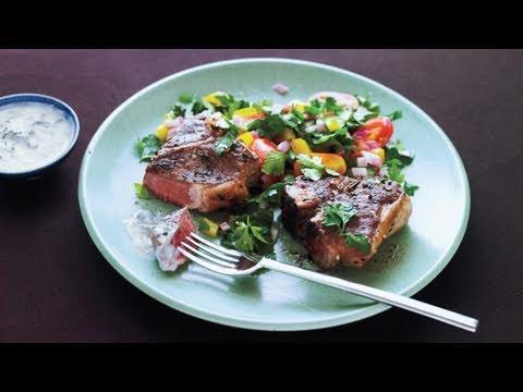 Greek Lamb Chops with Mint Yogurt Sauce Recipe