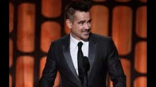 Colin Farrell speaks as part of the award presentation to Honorary Award recipient Donald Sutherland at the 2017 Governors Awards in the Ray Dolby Ballroom at Hollywood & Highland in Hollywood, CA, Saturday, November 11, 2017.