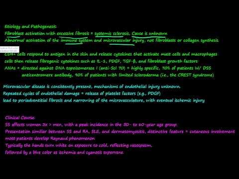 szkleroderma és visszér