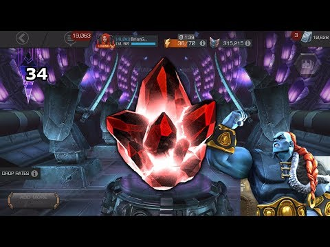 34 GMC + Six 5-Star Crystals + Champion SelectorMarvel Contest of Champions