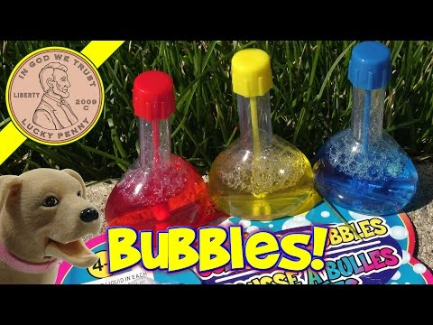 Color Mixing Bubbles....Outside Play With Butch!