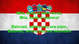 Croatia National Anthem English lyrics]