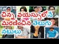 Telugu Celebrities Who Died In Young Age