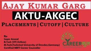 UPTU|AKTU|AKG College|Ajay Kumar Garg|Review|Placements|Cutoff|Career Counselling