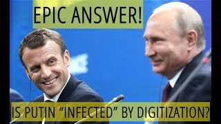 Putin's Joke Makes Macron Laugh: Global Economy Is Pregnant With Digitization, But I'm Fine - Video Youtube