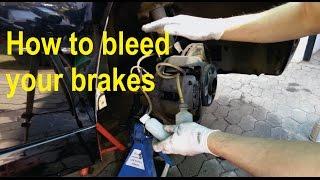 How to bleed / flush brake fluid on BMW (E65) - Detailed
