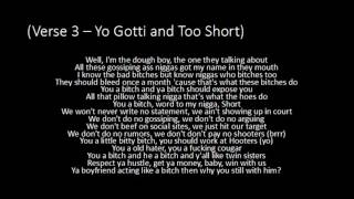 Yo Gotti - Rake It Up ft. Nicki Minaj and Too Short - Lyrics