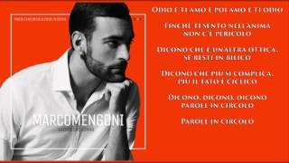 Marco Mengoni - Parole In Circolo - Album Le cose che non ho - Testo