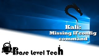 Kali: fix the missing ifconfig command (bash: ifconfig: command not found. Fix!)