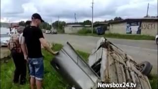 В Арсеньеве головокружительный полет легковушки попал на видео