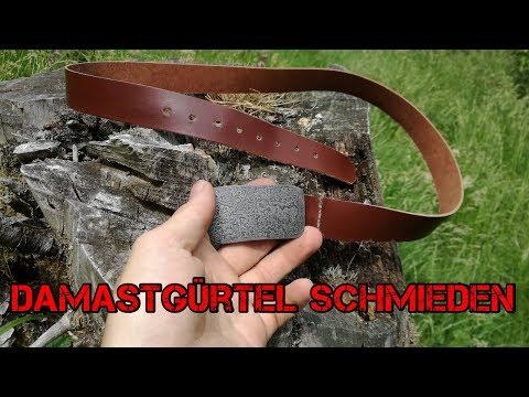 Damaszener-Gürtelschnalle selber schmieden | Subtitled