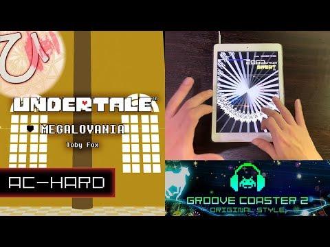 [UNDERTALEコラボ] MEGALOVANIA (AC-HARD) 理論値 【GROOVE COASTER 2 Original Style 手元動画】