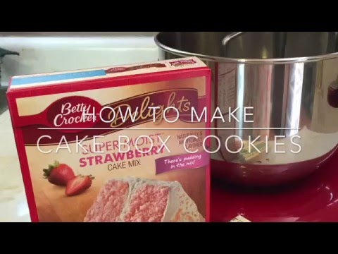 Video How to make Cake Mix cookies