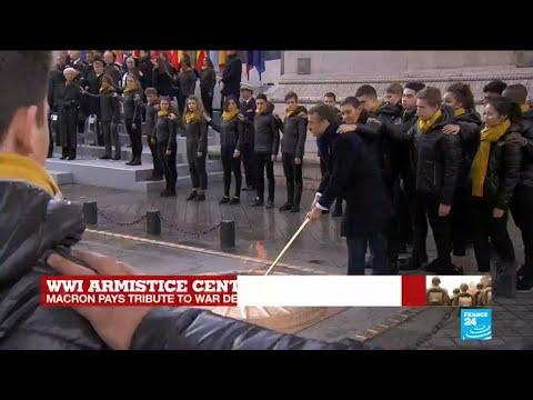 WWI armistice centennial: Macron pays tribute to unknown soldier