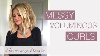 Voluminous Messy Curls - Harmonize_Beauty