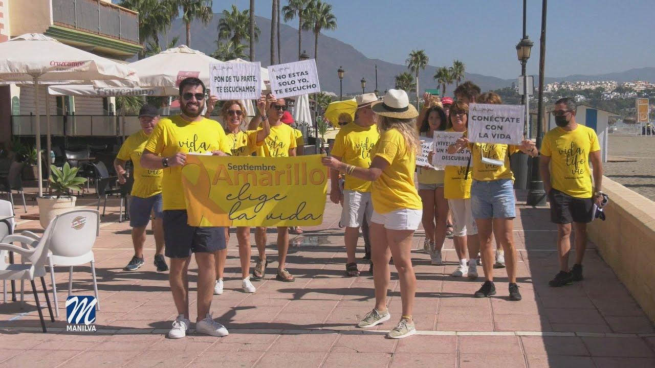 El sábado se llevó a cabo la marcha contra el suicidio