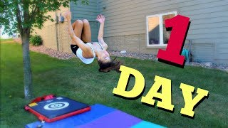 How to get your Back Tuck in ONE Day!