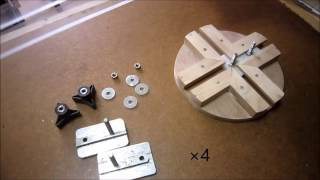 Ellipse and circle cutting jig 楕円・円切り治具