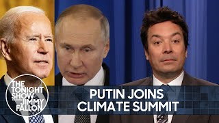 Putin to Join Climate Summit with Biden, Netflix Stock Takes a Dive | The Tonight Show