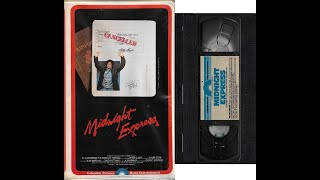 Opening and Closing to Midnight Express 1979 VHS *1980 reprint*