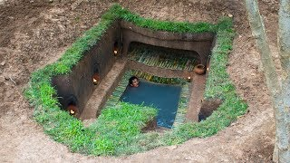 The man build ancient underground house and swimming pools