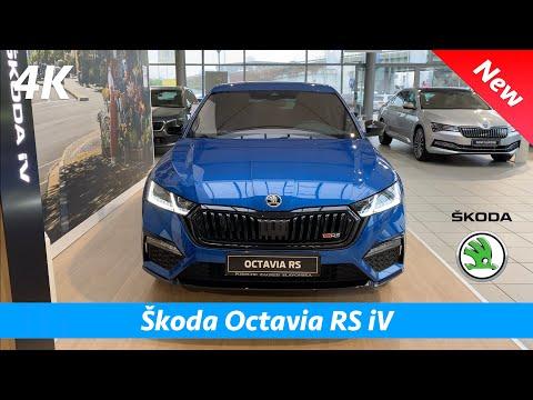Škoda Octavia RS iV 2021 - Full review in 4K | Exterior - Interior (trunk space, battery range)