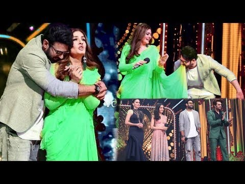 Prabhas Makes Fun with His First Crush Raveena Tandon on Salman Khan Reality Show