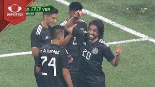 Gol de Pizarro   México 2 - 1 Venezuela   Partido Amistoso - Televisa Deportes