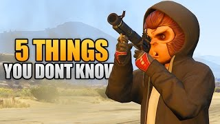 5 THINGS YOU DON'T KNOW IN GTA 5 ONLINE! (GTA 5 Tricks, Glitches & Secrets)