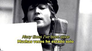 The long and winding road - The Beatles (LYRICS/LETRA) [Original]