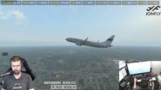 X-Plane 11 - Zibo 737 3 23T with RG Mod Part 1 of 4 - Самые