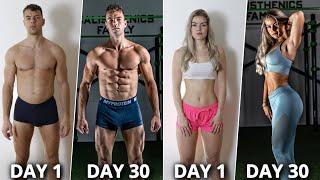 Amazing 30 Day Calisthenics Body Transformation (No Gym) – Documentary